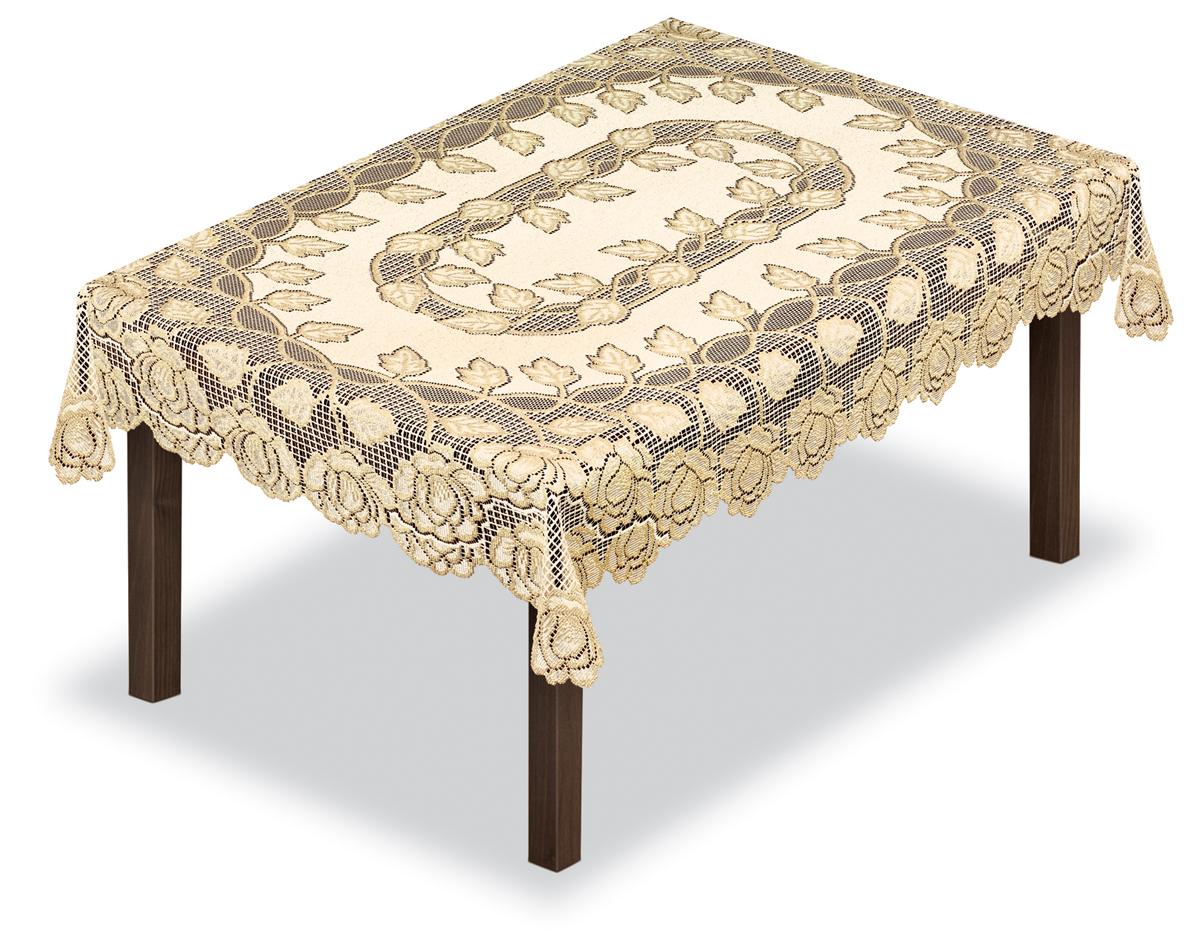 Скатерть Haft, прямоугольная, цвет: кремовый, золотистый, 100 х 150 см. 228649/100228649/100Великолепная прямоугольная скатерть Haft, выполненная из полиэстера, органично впишется в интерьер любого помещения, а оригинальный дизайн удовлетворит даже самый изысканный вкус. Скатерть выполнена в европейском стиле, имеет жаккардовое