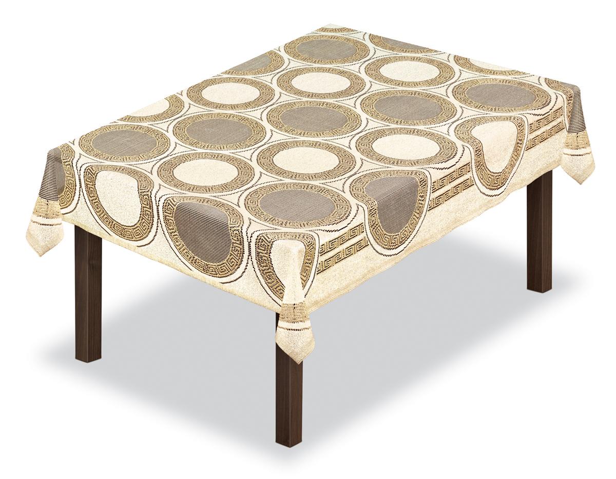 Скатерть Haft, прямоугольная, цвет: кремовый, золотистый, 120 х 165 см. 23011054113/100Великолепная скатерть Haft, выполненная из полиэстера, органично впишется в интерьер любого помещения, а оригинальный дизайн удовлетворит даже самый изысканный вкус.Скатерть Haft создаст праздничное настроение и станет прекрасным дополнением интерьера гостиной, кухни или столовой.