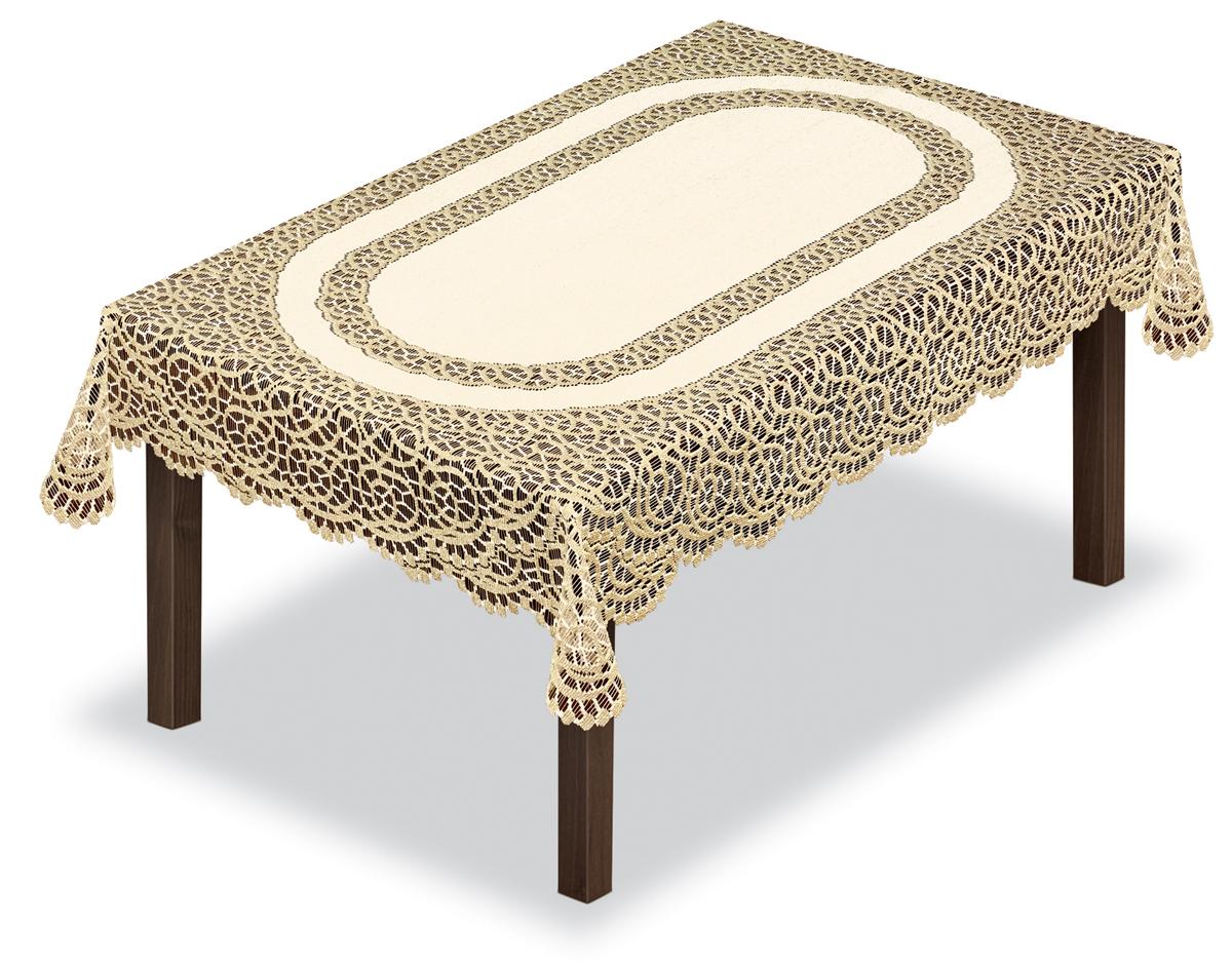 Скатерть Haft, прямоугольная, цвет: кремовый, золотистый, 100 х 150 см80001Оригинальная ,ажурная скатерть из ткани жаккардового переплетения шир.100см* длина 150 см.Скатерть прекрасна в уходе,не требует глажки и быстро сохнет
