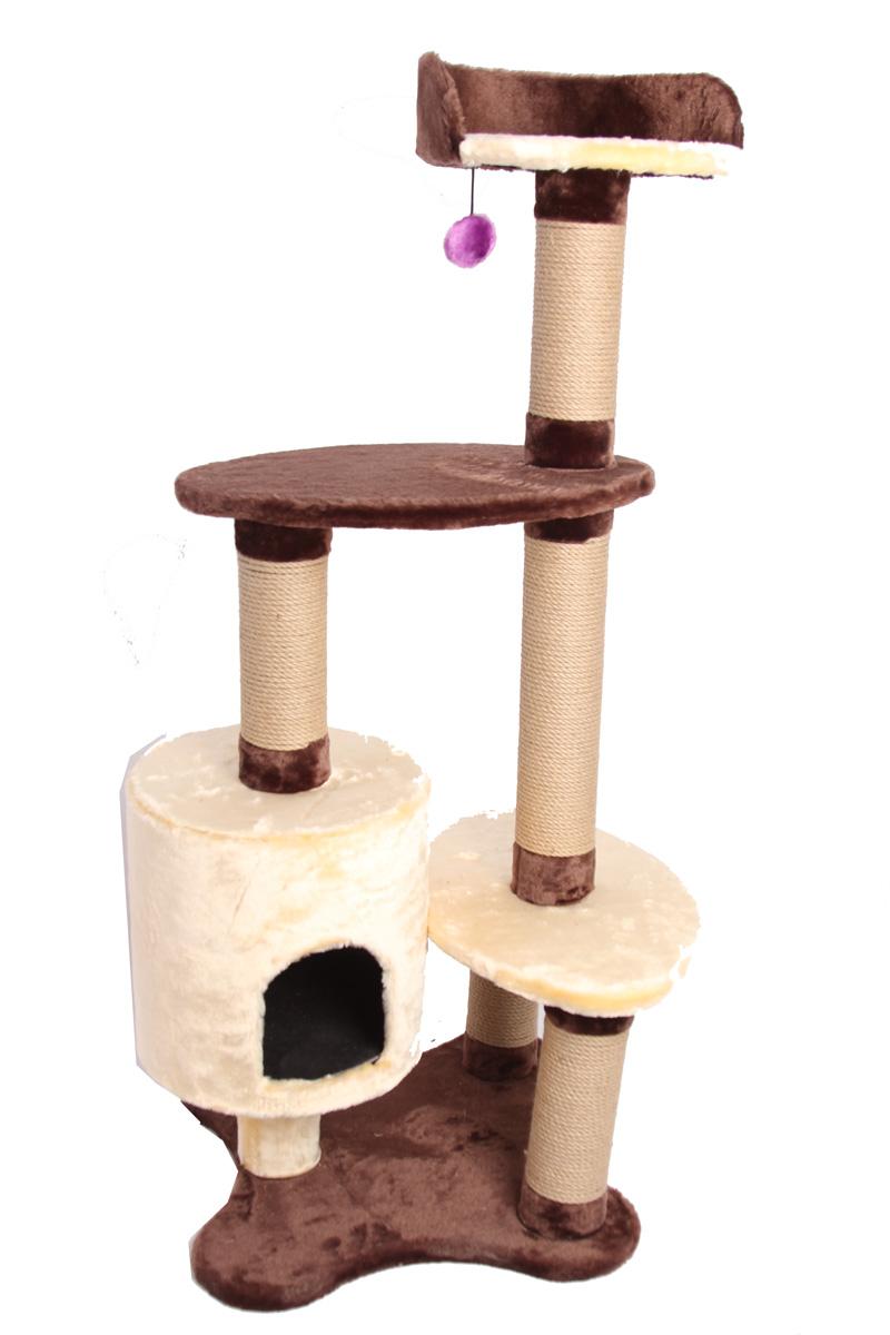 Игровой комплекс для кошек Lion Manufactory Сандра, 55 х 55 х 125 см0120710Игровой комплекс для кошек Lion Manufactory Сандра выполнен из высококачественного ДСП и обтянут искусственным мехом. Изделие предназначено для кошек. Ваш домашний питомец будет с удовольствием точить когти о специальный столбик, изготовленный из джута. А отдохнуть он сможет либо на полках разной высоты, либо в расположенном внизу домике. На одной из полок имеется подвесная игрушка.Общий размер: 55 х 55 х 125 см.Диаметр столбика: 10 см.