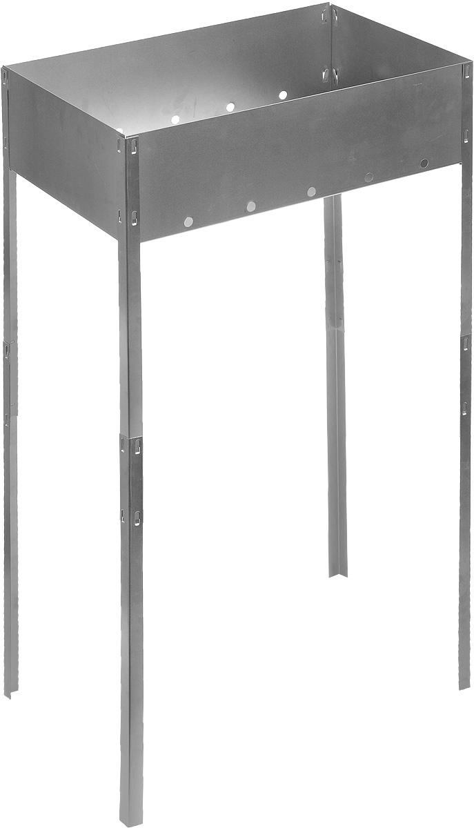 Мангал складной RoyalGrill, на длинных ножках, 50 х 30 х 85 смBQ-N01_черная ручкаСкладной мангал RoyalGrill изготовлен из нержавеющей стали, не подвержен деформации, легкий, но в то же время прочный. Мангал складной, занимает минимум места, при этом позволяет затрачивать меньше угля при жарке пищи. Изделие легко устанавливается и хорошо поддерживает жар.Это небольшое приспособление для приготовления шашлыка и барбекю пригодится в любой семье. Такой мангал станет незаменимым атрибутом отдыха на природе. Размер мангала: 50 х 30 х 85 см.