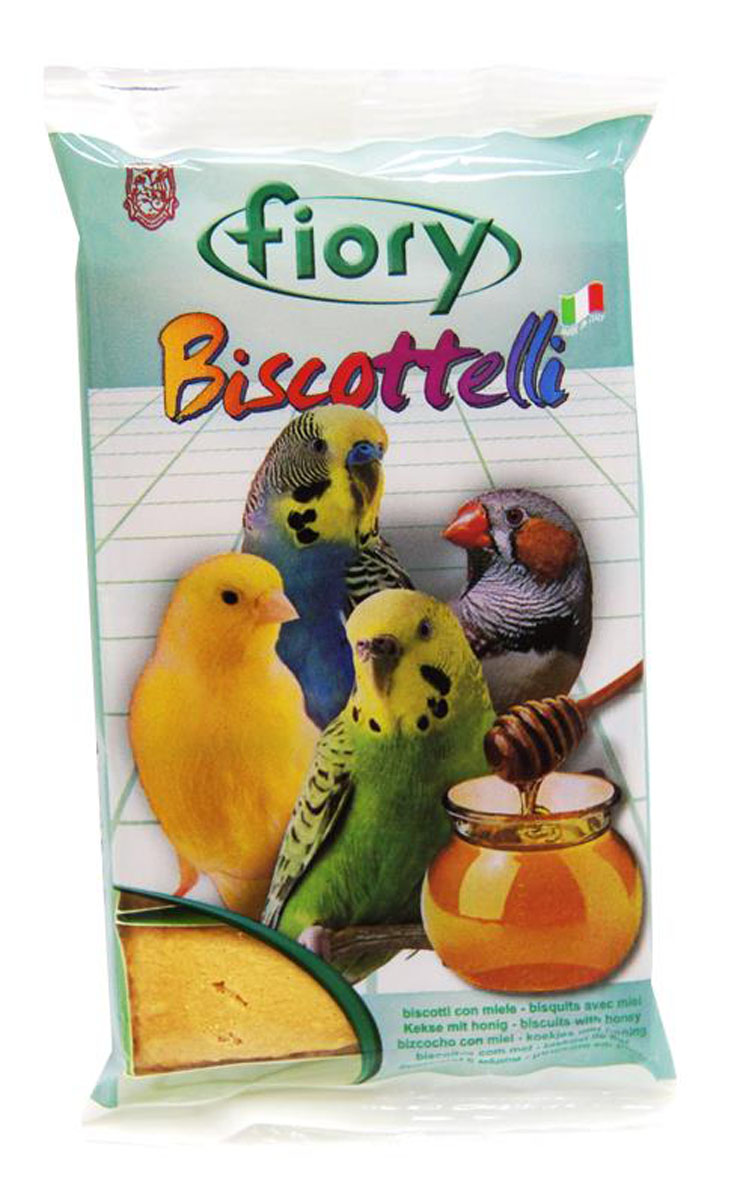 Бисквиты для птиц Fiory Biscottelli, с медом, 30 г0120710Бисквиты для птиц Fiory Biscottelli с медом станут отличным дополнением к ежедневному рациону вашей птички.Мед богат витаминами, а также обладает насыщенным вкусом, который непременно понравится вашему пернатому питомцу. Содержат яйца, сахар, молоко с медом. Ингредиенты: злаки, яйцо и его производные (30%), сахар (27%), яблоко (4,1%), содержащиеся антиоксиданты одобрены Советом Европы.