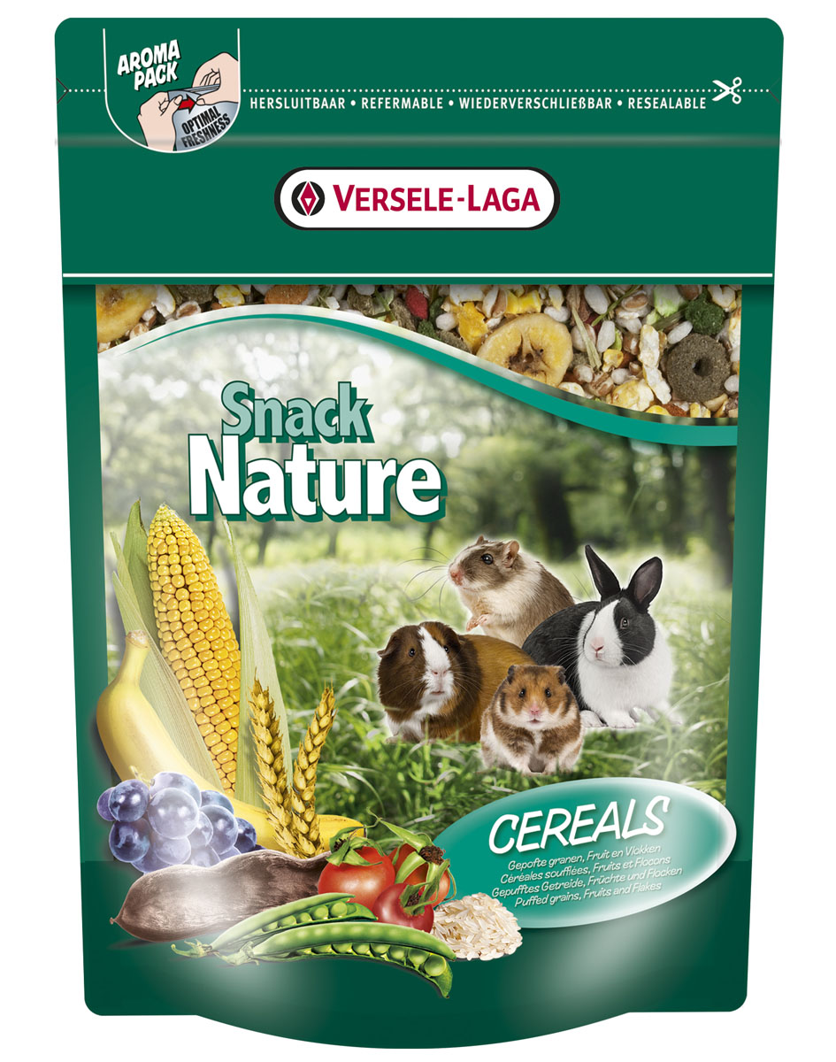 Корм для грызунов Versele-Laga Nature Snack Cereals, со злаками, 500 г0120710Дополнительный корм для грызунов Versele-Laga Nature Snack Cereals - это превосходная здоровая смесь со вздутыми зернами, фруктами и хлопьями, которая служит прекрасным дополнением к ежедневному рациону вашего питомца, и стимулирует кондицию и жизнеспособность.Состав: хлебные злаки, фрукты, овощи, продукты растительного происхождения, экстракт белков овощного происхождения, минералы, семена, травы, морские водоросли, календула, юкка, фрукто-илигосахариды, манан-олигосахориды, косточки винограда.Пищевые добавки: 5700 М.Е. витамин А, 955 М.Е. витамин D3, 20 мг витамин Е, 23 мг железо, 1 мг йод, 5 мг медь, 34 мг марганец, 30 мг цинк, 0,12 мг селен, красители-антиоксиданты.Товар сертифицирован.
