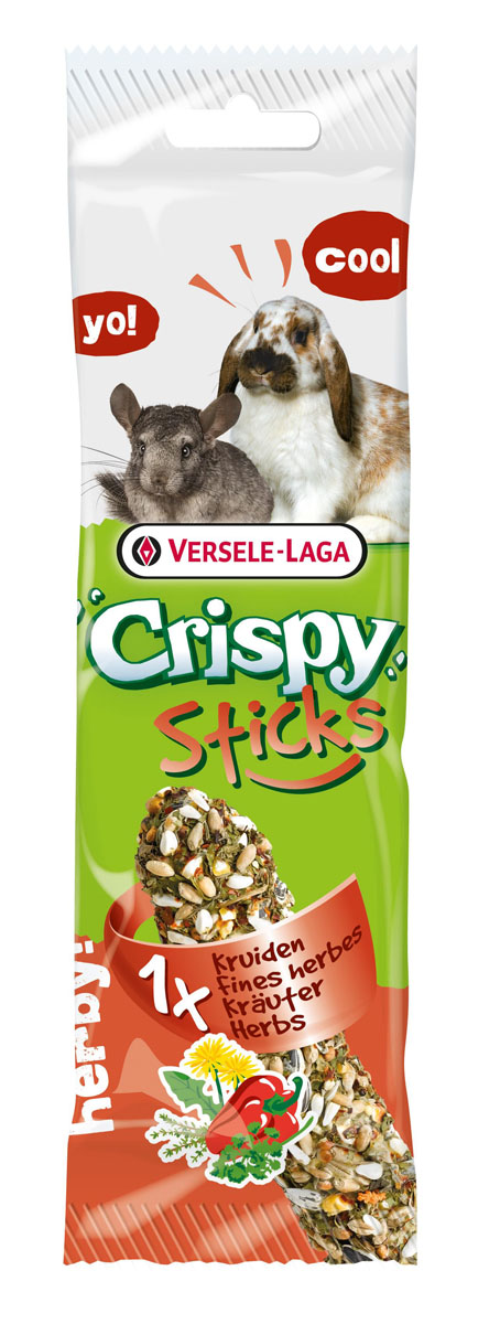 Палочка для кроликов и шиншилл Versele-Laga Crispy с травами, 1 х 55 г0120710Палочки VERSELE-LAGA для кроликов и шиншилл с травами – настоящая радость и вкусное развлечение для зверьков. В палочки добавлены паприка, тимьян, одуванчик и петрушка. Эти компоненты не просто придают палочкам пикантный вкус, но и положительно влияют на здоровье ваших любимцев.Состав: злаковые, семена, мед, различные сахара, паприка, одуванчик, тимьян, петрушка, масла и жиры.В упаковке 2 палочки.