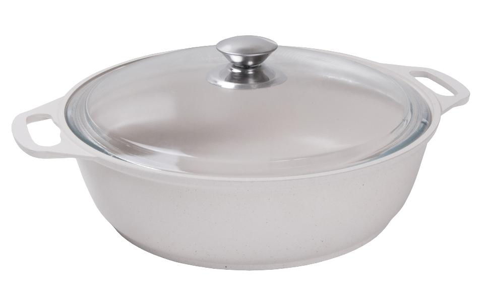 Кастрюля-жаровня Kukmara Традиция с крышкой, с антипригарным покрытием, 3 л54 009312Долгий срок службы. Проточка дна. Возможность использования на всех типах плит, кроме индукционных. Равномерное распределение тепла. Преимущества при приготовлении: использование минимального количества жира. Толстостенная литая посуда удобна для жарки, тушения и приготовления вторых блюд. Еда в ней томится, а не жарится, придавая пище особый вкус.