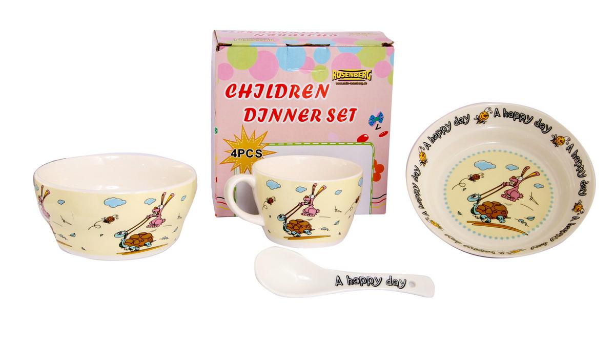 Rosenberg Набор детской посуды 87962FS-91909глубокая тарелка ,бульонная чаша 470мл,кружка 250мл,ложка 14см