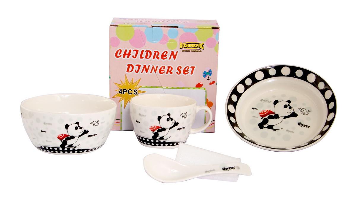 Rosenberg Набор детской посуды 87960VT-1520(SR)глубокая тарелка ,бульонная чаша 470мл,кружка 250мл,ложка 14см