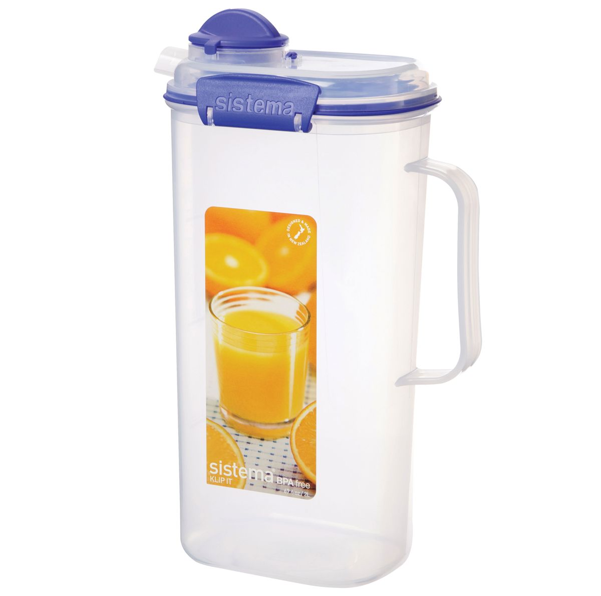 Кувшин для сока Sistema Klip It, 2 л1420Кувшин Klip It предназначен для хранения напитков. Крышка с силиконовой прокладкой герметично закрывается. Можно мыть в посудомоечной машине.