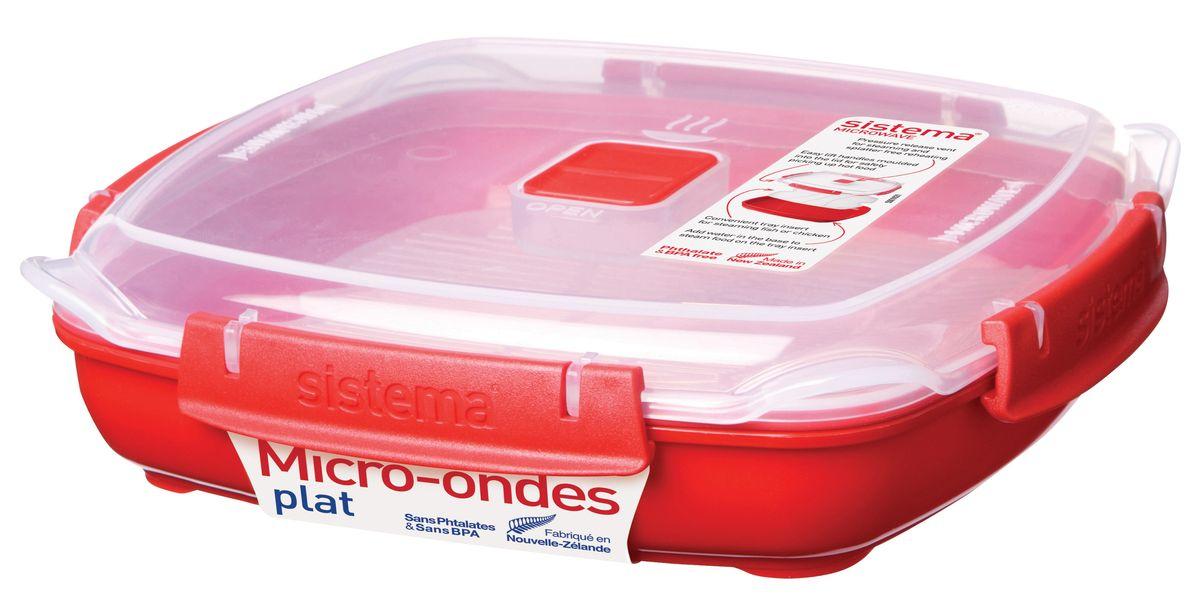 Контейнер низкий Sistema Microwave, 880 млVT-1520(SR)В контейнере Sistema Microwave вы с легкостью сможете не только разогреть пищу в СВЧ, но и приготовить ее. Просто налейте воды в базовый контейнер, поместите пищу в пластиковый дуршлаг, откройте на крышке клапан пароотвода и поместите все в микроволновую печь. Через несколько минут вы можете насладиться полезной пищей. Контейнер оснащен фиксирующимися зажимами - клипсами, которые при необходимости можно будет заменить. На крышке имеется прорезиненный обод, который способствует более герметичному закрыванию, в связи с чем продукты дольше сохраняют свои свойства. Можно мыть в посудомоечной машине.