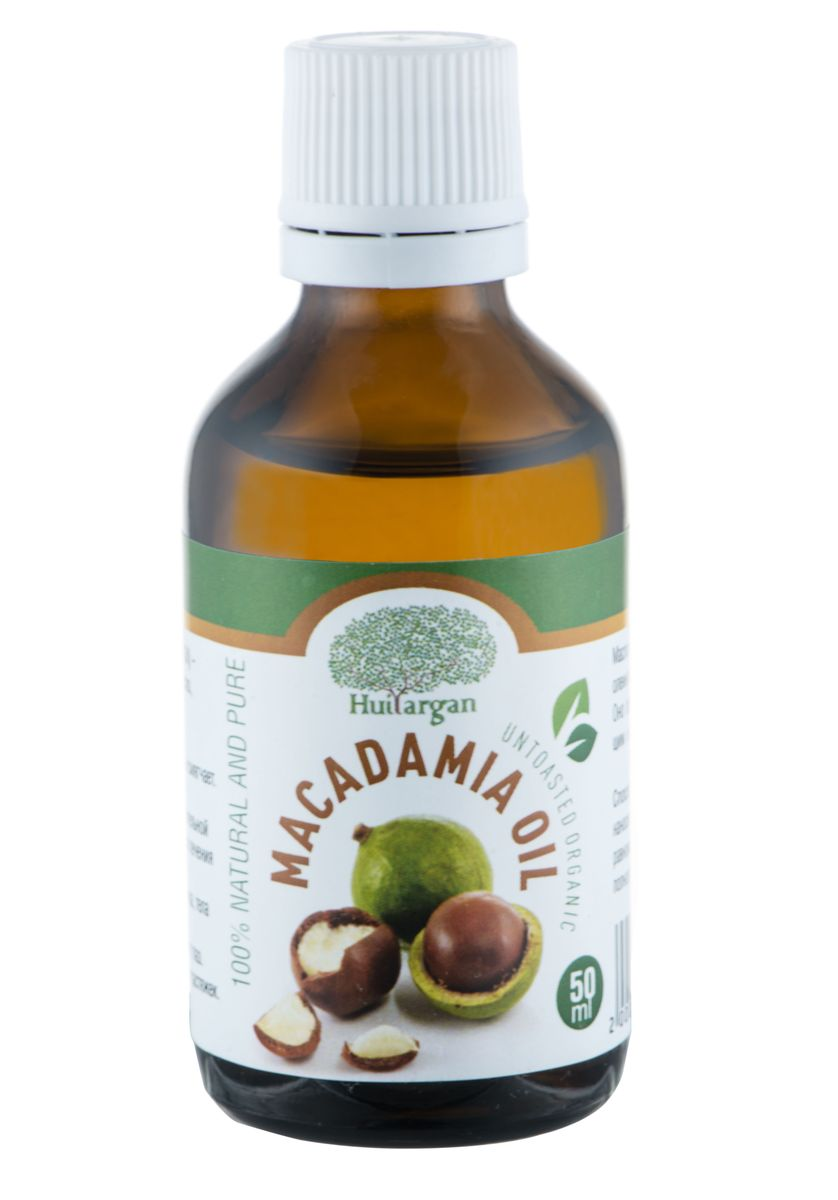Huilargan Масло Макадамия, 100% органическое, 50 мл4650001791528Масло Макадамия (Macadamia Oil) - 100% чистое и натуральное масло, холодного отжима. - Восстанавливает, питает, защищает и смягчает.- Способствует заживлению ожогов.- Рекомендуется для нежной, чувствительной кожи. Идеально для сухой кожи, для лечения трещин.- Используется для ухода за кожей лица, тела и за волосами.- Подходит для ухода за кожей вокруг глаз.- Рекомендуется для предотвращения растяжек.Масло макадамии богато содержанием олеиновой и пальметиновой кислотами. Оно обладает питательным, ухаживающим и смягчающим действием.