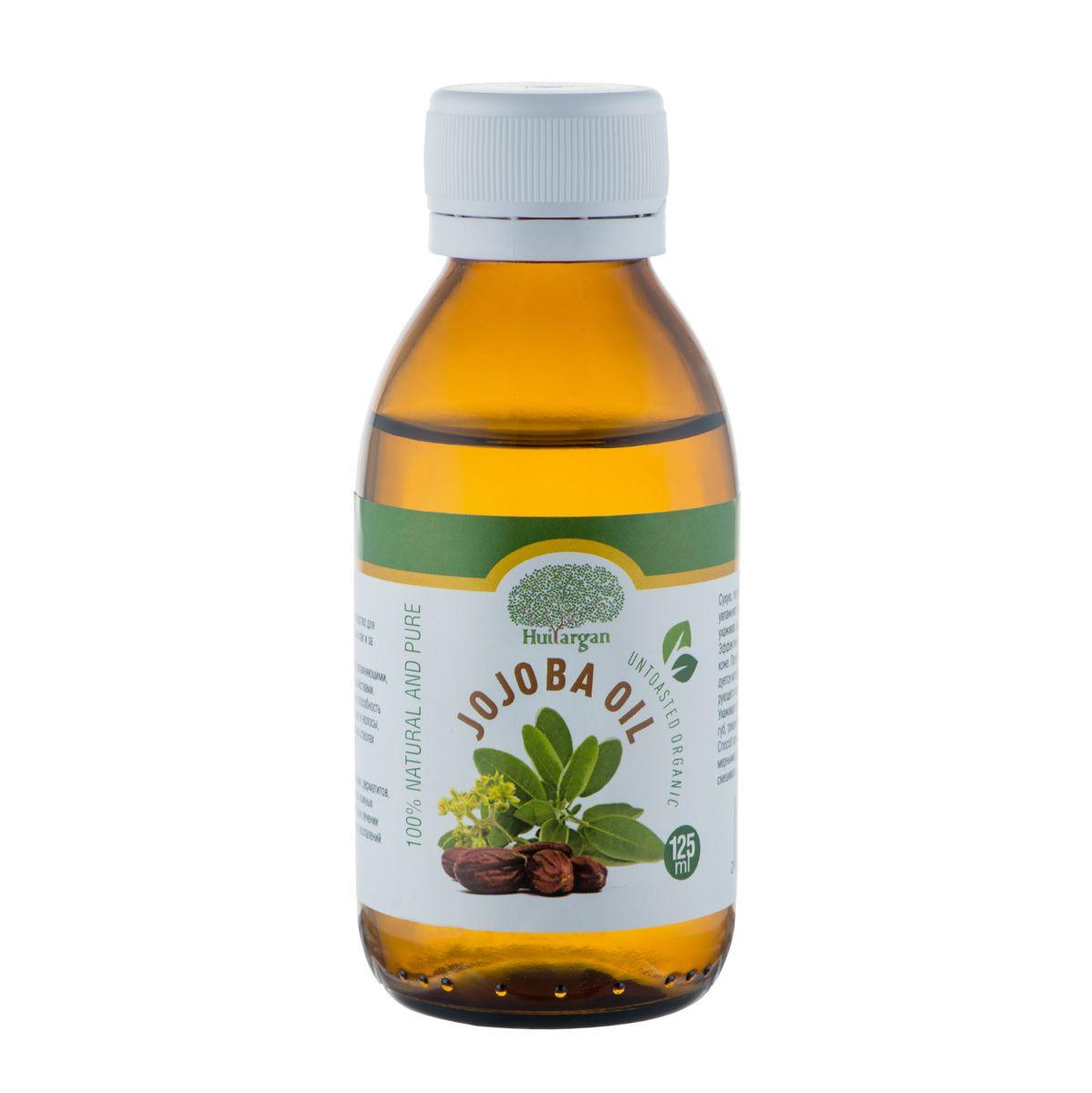 Huilargan Масло жожоба, 100% органическое, 125 млFS-00897Масло жожоба (Jojoba oil) – 'то идеальное средство для ежедневного ухода за кожей всех типов, также как и за волосами любой структуры и типов. Оно обладает высокими регенерирующими, увлажняющими, противовоспалительными и смягчающими свойствами. Богато витамином Е. Отличная проникающая способность масла обеспечивает полное всасывание в кожу и волосы, поэтому оно не оставляет на лице и волосяных стволах жирного блеска.Масло жожоба применяется при лечении экзем, дерматитов, нейродермитов, псориаза и других серьезных кожных проблемах – в лечебных мазях.В комплексном лечении акне, фурункулов, угревой сыпи и различных воспалений и высыпаний на коже.Сухую, пересушенную, шелушащуюся и воспаленную кожу оно увлажняет и питает, проникая в глубокие слои кожи, идеально ухаживая за кожными структурами лица, шеи, груди и декольте. Эффективно разглаживает морщины при дряблой, стареющей коже.Прекрасное средство после бритья, поэтому его рекомендуется использовать как смягчающее средство после травмирующего кожу бритья.Ухаживает за губами, увлажняя их. Исчезает излишняя сухость губ, трещинки и шелушение на губах и вокруг них.