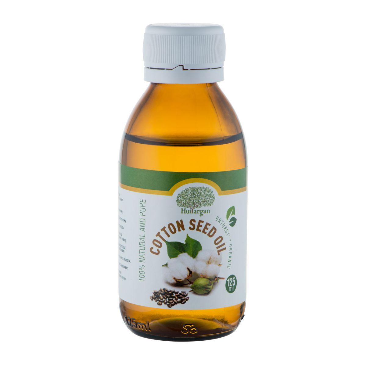 Huilargan Масло хлопковых семян, 100% натуральное, 125 млFS-00897Масло хлопковых семян (Cotton seed oil) будет идеальным выбором для тех людей, которые имеют аллергию на орехи и ореховые масла.Свойства: - источник мягкости, очень приятно в применении, делает кожу бархатистой и атласной; - обладая лёгкой, шелковистой структурой, питает кожу изнутри, не оставляя жирного ощущения; - Восстанавливает нарушенные клеточные структуры кожного покрова головы.- Сохраняет необходимый уровень воды в клетках подкожной зоны и восстанавливает гидролизную пленку эпидермиса.- Выполняет функцию природного иммуномодулятора.- Обладает активными регенерирующими свойствами внутри волосяной луковицы.- Нормализует клеточный обмен веществ в сальных железах.- Влияет на синтез коллагена.- Тонизирует, смягчает волосяной покров, восстанавливает кератиновые чешуйки волос.- За счет антибактериальной активности снимает воспаление и раздражения чувствительной кожи головы.Применение: - сухая кожа; - чувствительная и раздражённая; - зрелая, уставшая, не в тонусе кожа; - забота и предупреждение трещин на коже.