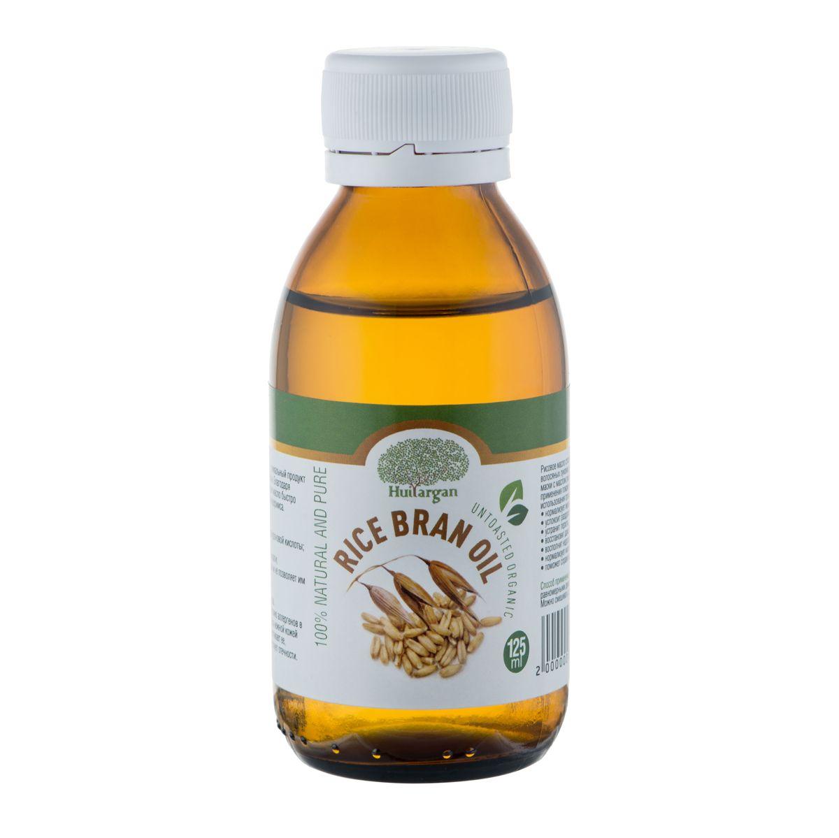 Huilargan Масло рисовых отрубей, 100% натуральное, 125 млFS-00897Масло рисовых отрубей (Rice bran oil ) - уникальный продукт рекомендован для сухой и увядающей кожи. Благодаря глубокому проникновению в кожу, рисовое масло быстро впитывается и попадает в нижние слои эпидермиса. Оно проявляет следующие действия:- провоцирует выработку эластина и гиалуроновой кислоты;- насыщает клетки витаминами;- увлажняет кожу и препятствует потере влаги;- разглаживает уже имеющиеся морщины и не позволяет им закладываться в будущем;- обновляет кожный покров;- выравнивает рельеф, улучшает цвет лица.Благодаря мягкому воздействию и отсутствию аллергенов в составе, продукт используется для ухода за нежной кожей вокруг глаз. Масло питает кожу век, подтягивает ее, разглаживает мелкие морщины и препятствует отечности.Рисовое масло способствует активизации замерших волосяных луковиц и укреплению корней волос. Массаж и маски с маслом рисовых отрубей уже через 10 дней применения покажут видимые результаты. Кроме того, его использования произведет дополнительные эффекты:- нормализует жирность кожи головы;- успокоит раздражение;- устранит перхоть;- восстановит даже сильно поврежденные волосы;- восполнит недостаток витаминов;- нормализует кислотный баланс;- поможет справиться с секущимися кончиками.