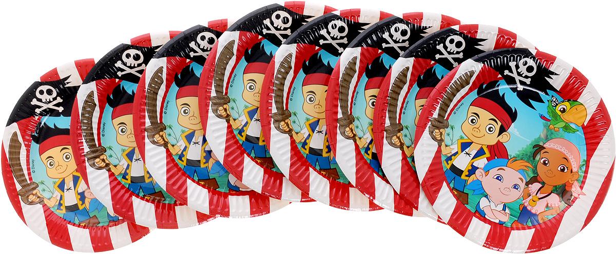 Procos Набор одноразовых тарелок Джейк и пираты Нетландии 8 шт