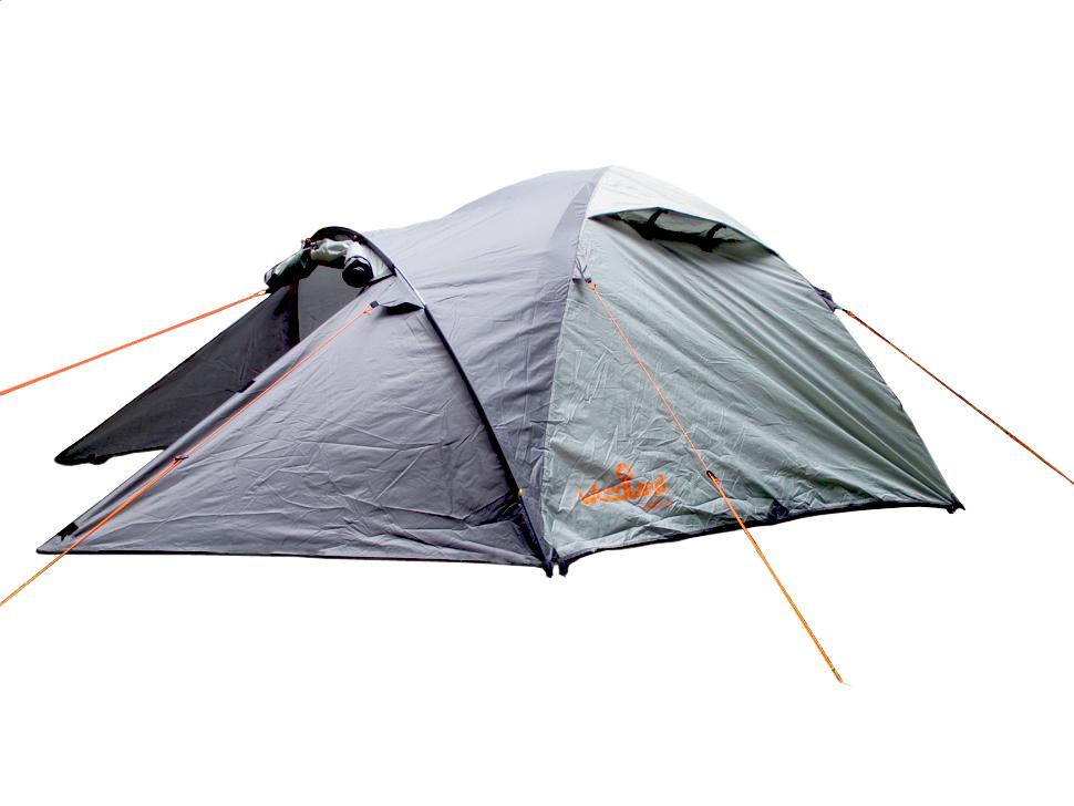 Палатка туристическая WoodLand TREK 3, цвет: темно-оливковый, серый95744-233-00Палатка WoodLand TREK 3 - очень удобная модель с надежной конструкцией. Она имеет большое спальное отделение. Материал тента герметичен и надежен в любых условиях.Палатка вмещает 3 человек, она устанавливается очень просто, поэтому не создаст проблем при сборке. Палатка достаточно устойчива к ветру и ультрафиолетовому излучению. Она имеет кармашки для мелочей, крючок для фонарика. Есть также: дополнительные кармашки, чтобы убирать открытый полог входа, удобные пряжки для регулировки длины оттяжки, 2 вентиляционных клапана с защитой от косого дождя и оттяжки со светоотражающей вставкой. Идеальна для туристических походов в весеннее, летнее и осеннее время.Тент: 100% полиэстер 75D/190T PU 5000мм в ст.Внутр. палатка: 100% дышащий полиэстер.Дно: 100% полиэстер, 75D/195T 7000мм в ст.Каркас: 8.5 мм HQ FiberGlass.