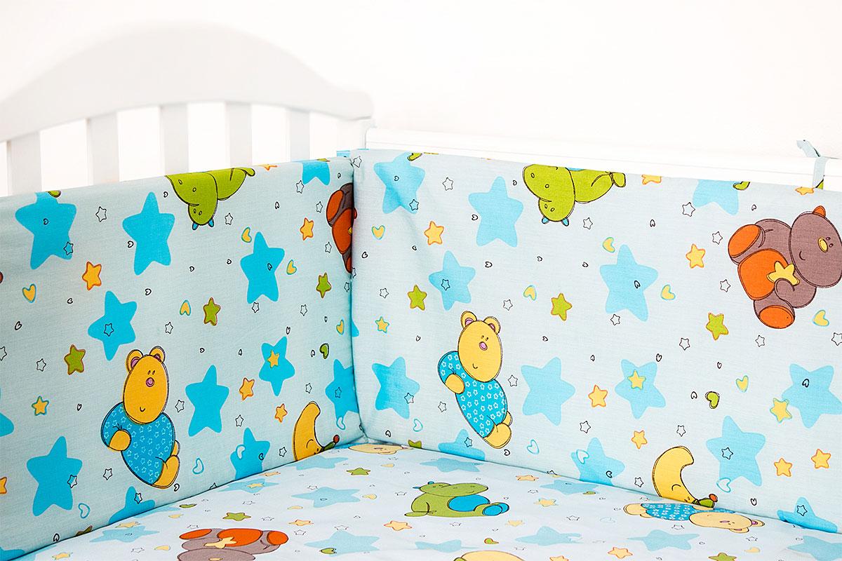 Baby Nice Бампер в кроватку Звездопад цвет голубой