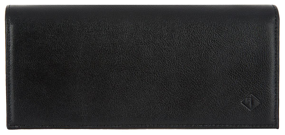 Портмоне женское Flioraj, цвет: черный. 00051117W16-11135_914Элегантный портмоне Flioraj выполнен из натуральной кожи. Кошелек закрывается широким клапаном на магнитную кнопку. Внутри имеется пять отделений для купюр и бумаг, карман для мелочи на застежке-молнии, шесть наборных карманов для кредитных карт или визиток. На внешней стороне расположен карман для мелких бумаг. Такое портмоне станет отличным подарком для человека, ценящего качественные и необычные вещи. Портмоне упаковано в картонную коробку с логотипом фирмы. B>Характеристики: Материал:натуральная кожа, металл, текстиль. Размер кошелька: 18 см x 9 см х 2 см. Цвет: черный. Размер упаковки: 20 см х 12 см х 3 см. Производитель: Россия. Артикул: 00051117