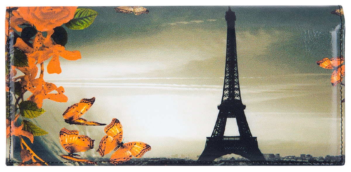 Портмоне женское Flioraj Париж, цвет: белый, черный, оранжевый. 00050937495350нЭлегантный кошелек Flioraj выполнен из натуральной кожи с красочным фотопринтом. Кошелек закрывается широким клапаном на кнопку. Внутри имеется пять отделений для купюр и бумаг, карман для мелочи на застежке-молнии, шесть наборных карманов для кредитных карт или визиток. На внешней стороне расположен карман для мелких бумаг. Такое портмоне станет отличным подарком для человека, ценящего качественные и необычные вещи. Портмоне упаковано в картонную коробку с логотипом фирмы. B>Характеристики: Материал:натуральная кожа, металл, текстиль. Размер кошелька: 18 см x 9 см х 2 см. Цвет: белый, черный, оранжевый. Размер упаковки: 20 см х 12 см х 3 см. Производитель: Россия. Артикул: 00050937