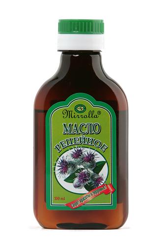 Репейное масло 100млFS-00897Издавна почиталось на Руси, как надежное средство для ухода за кожей головы и волосами всех типов. Репейное масло содержит природный инулин, богатый комплекс витаминов, протеин, жирные кислоты, дубильные вещества и минеральные соли. - Укрепляет корни волос, насыщает их витаминами; - способствует росту волос;- снимает зуд; - успокаивает кожу головы; - способствует устранению перхоти и себореи.