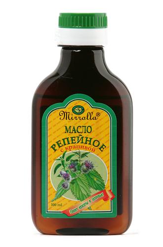 Репейное масло с крапивой 100мл4650001790279Репейное масло – активное средство для ухода за кожей головы и волосами всех типов. Масло содержит природный инулин, богатый комплекс витаминов, протеин, жирные кислоты, дубильные вещества и минеральные соли. Крапива используется при облысении, для укрепления волос, себорее головы, и как ценное поливитаминное средство. - Предотвращает ломкость сухих и поврежденных волос; - способствует росту волос;- питает кожу головы и устраняет зуд; - препятствует выпадению волос, защищает их от неблагоприятных атмосферных воздействий.