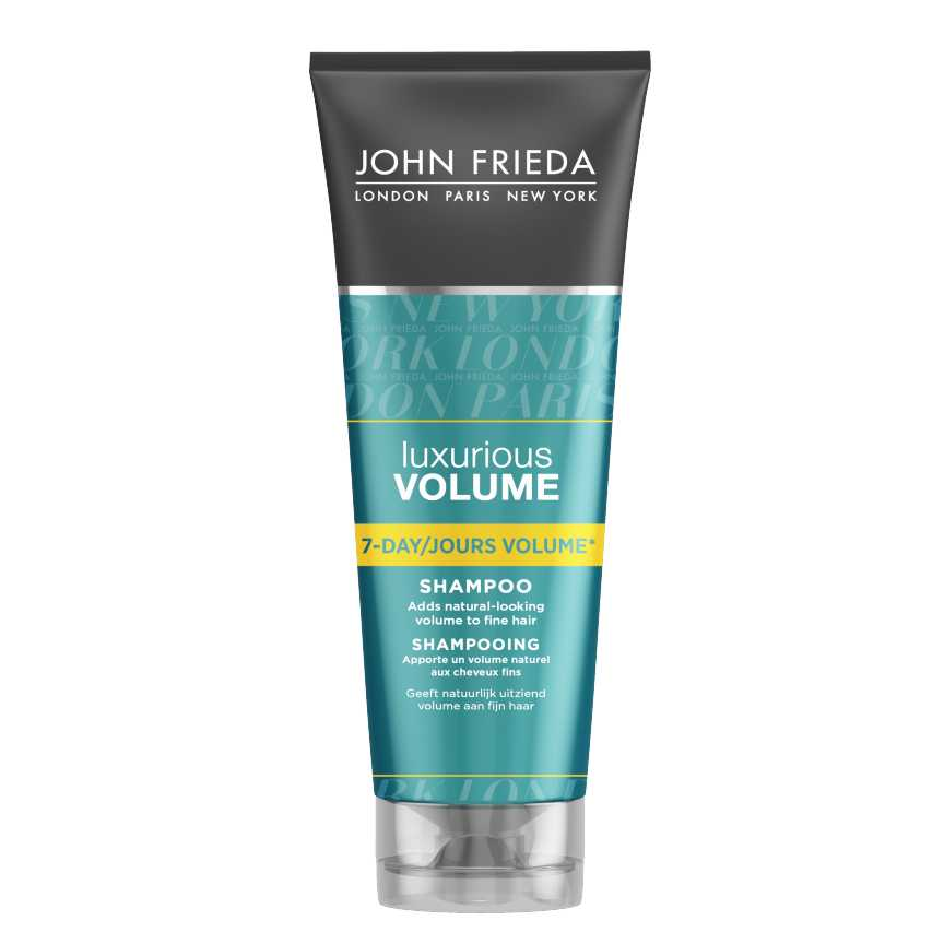 John Frieda Шампунь для создания ощутимого объема длительного действия Luxurious Volume 7-DAY 250 млFS-00897Придает тонким волосам естественный роскошный объем. Откройте для себя уникальную систему ухода для трансформации и создания объема тонких волос. Шампунь для создания ощутимого объема Luxurious Volume содержит Vitality Complex с кофеином и дает ощутимую трансформацию тонким волосам, прямые волосы приобретают естественный объем и ощутимую мягкость.