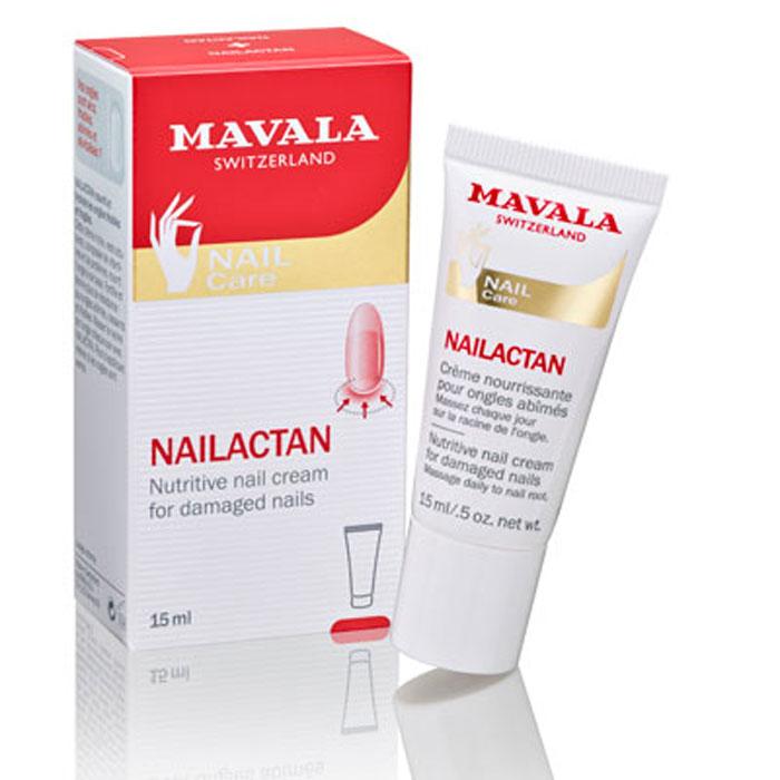 Mavala Крем для поврежденных ногтей Nailactan, питательный, 15 мл14-613Питательный крем Mavala Nailactan - это уникальное средство для оздоровления поврежденных, сухих, хрупких ногтей. Он воздействует непосредственно на живую часть ногтя, матрикс, восстанавливая его природные функции.Крем интенсивно питает, улучшает кровообращение, стимулирует рост ногтевой пластины. Восстанавливает поврежденную структуру ногтя, как в матриксе, так и в самой ногтевой пластине.Витамин Е - экстракт пророщенной пшеницы - жирорастворимый витамин, являющийся антиоксидантом, защищает от действия УФ-излучения, укрепляет, проникает в глубокие слои эпидермиса. Витамин А стимулирует иммунную систему, обладает защитным действием, предотвращает развитие грибкового поражения. Витамин В отлично удерживает влагу, смягчает и успокаивает, укрепляет, придает эластичность, стимулирует регенерацию клеток.Запатентованная формула средства не имеет аналогов.Крем гипоаллергеннен.Приятное дополнение – одной баночки или тюбика хватает на год регулярного применения. Товар сертифицирован.
