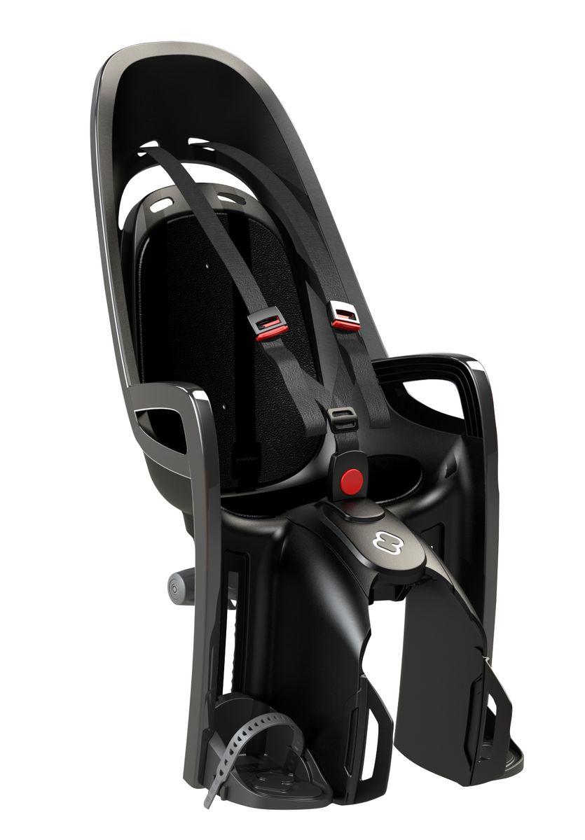 Детское кресло Hamax Caress Zenith W/ Carrier Adapter, цвет: серый, черный детское велокресло hamax caress observer цвет серый фиолетовый