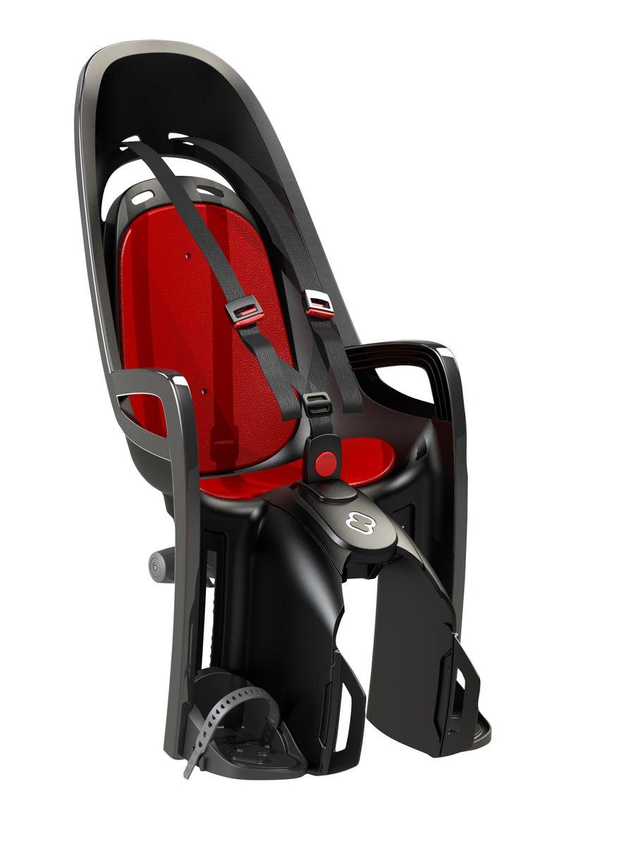 Детское кресло Hamax Caress Zenith W/ Carrier Adapter, цвет: серый, красный детское велокресло hamax caress observer цвет серый фиолетовый