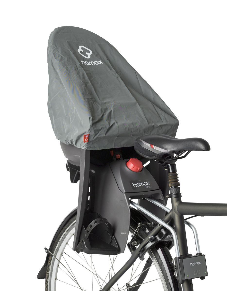 Чехол на кресло Hamax Rain Cover, цвет: серый590010Чехол на кресло Hamax Rain Coverот дождя для велокресла специально разработан для детских велосиденей. Он плотно облегает вокруг велокресла защищая его от дождя и ветра, когда кресло не используется.