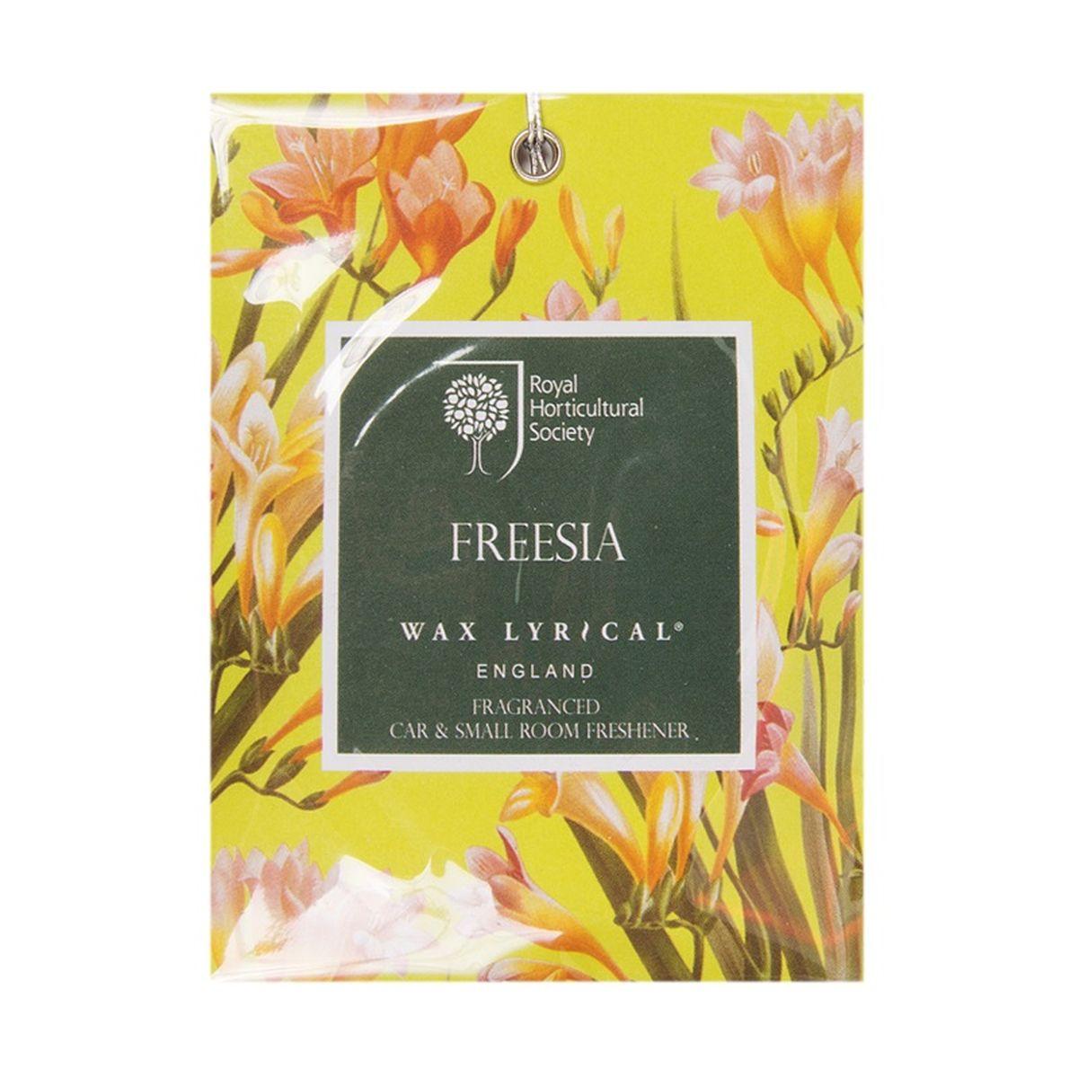Мини-саше ароматическое Wax Lyrical Цветущая фрезия, 20 гRH5812Мини-саше ароматическое Wax Lyrical Цветущая фрезия имеет нежный сенсорный цветочный аромат с тонким аккордом свежесорванных листьев, сочетает в себе ноты фрезии, гардении и орхидеи, рождая чистый и женственный аромат.