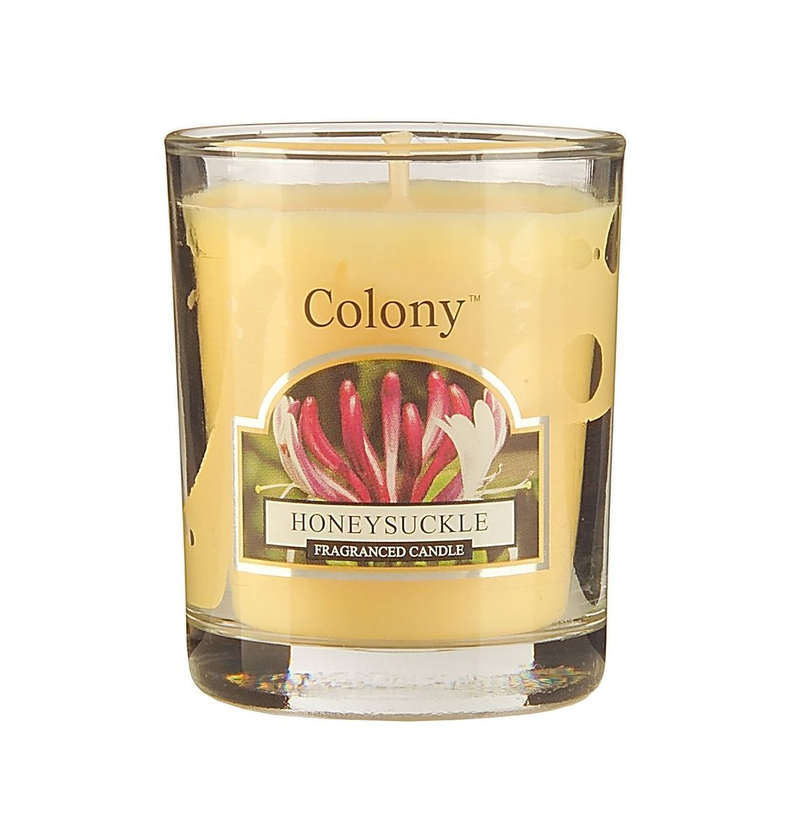 Свеча ароматическая лампадная Wax Lyrical Цветущая жимолость, 14 часов, 130 г94672Свеча ароматическая лампадная Wax Lyrical Цветущая жимолость имеет нежный успокаивающий аромат цветов жимолости, дополненный едва уловимым древесным оттенком.