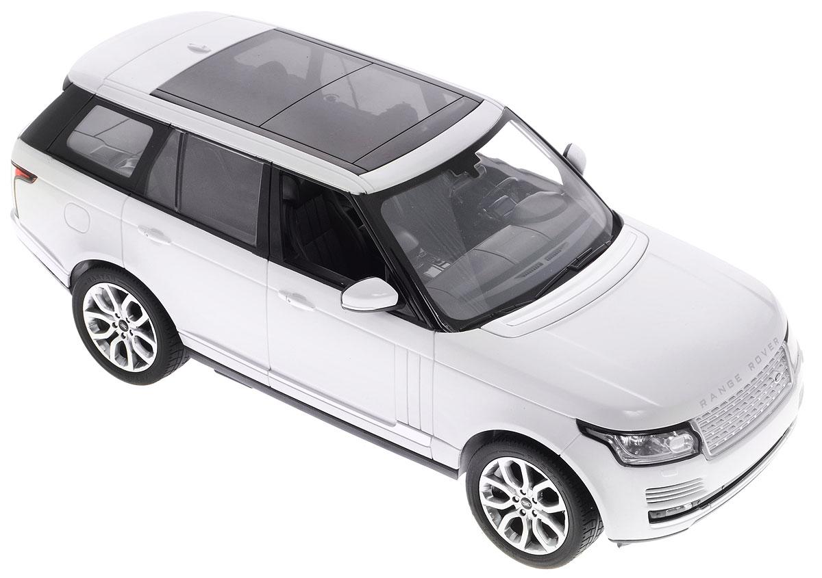 """Радиоуправляемая модель Rastar """"Range Rover"""" обязательно привлечет внимание вашего ребенка и станет его любимой игрушкой. Все дети хотят иметь в наборе своих игрушек ослепительные, невероятные и модные автомобили на радиоуправлении. Тем более, если это автомобиль известной марки с проработкой всех деталей, удивляющий приятным качеством и видом. Одной из таких моделей является автомобиль на радиоуправлении Rastar """"Range Rover"""". Это точная копия настоящего авто в масштабе 1:14. Управление моделью происходит с помощью пульта управления. Возможные движения: вперед, назад, вправо, влево, остановка. Имеются световые эффекты. Пульт управления работает на частоте 40 MHz. Для работы машины необходимо купить 5 батареек типа АА (не входят в комплект). Для работы пульта управления необходимо купить батарейку типа """"Крона"""" (не входит в комплект)."""
