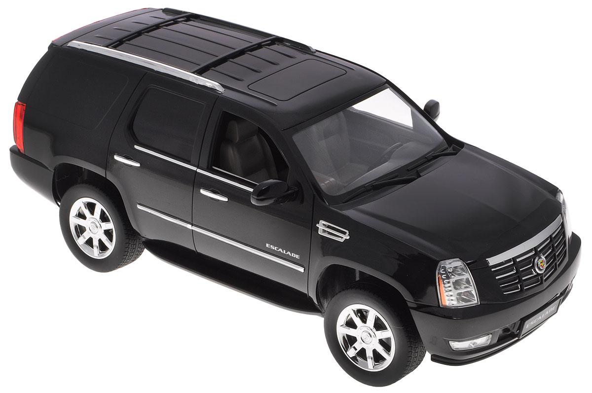 """Радиоуправляемая модель Rastar """"Cadillac Escalade"""" - точная копия настоящего автомобиля в масштабе 1:14. Юные гонщики оценят эту машину за прекрасные технические характеристики и полную свободу передвижений в любую сторону. Моделью легко управлять и любая гонка принесет удовольствие. Управление машиной происходит с помощью пульта управления. Автомобиль двигается вперед и назад, поворачивает направо, налево и останавливается. Имеются световые эффекты. Автомобиль изготовлен из пластика с металлическими элементами. Колеса игрушки прорезинены и обеспечивают плавный ход. Пульт управления работает на частоте 27 MHz. Радиоуправляемые игрушки способствуют развитию координации движений, моторики и ловкости. Ваш ребенок часами будет играть с моделью, придумывая различные истории и устраивая соревнования. Машина работает от 5 батареек типа АА (не входят в комплект). Для работы пульта управления необходима одна батарейки типа """"Крона"""" (не входит в комплект)."""
