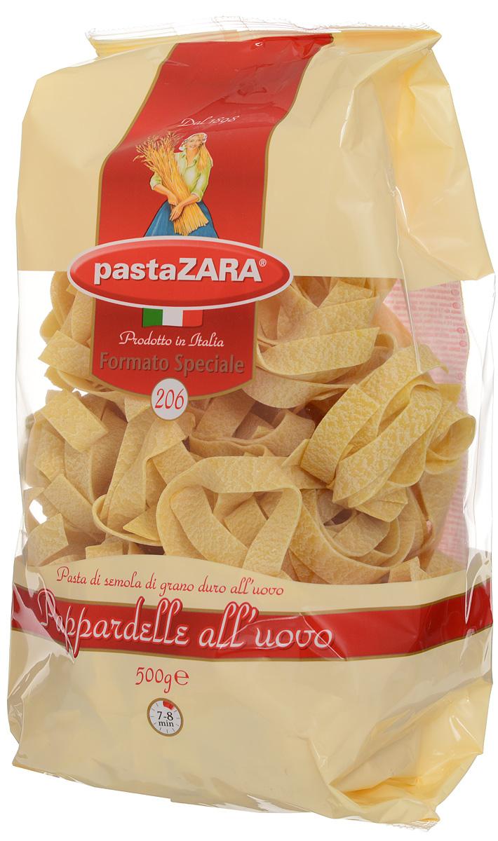Pasta Zara Клубки яичные широкие паппарделле макароны, 500 г0120710Макаронные изделия Pasta Zara — одна из самых популярных марок итальянских макаронных изделий в России. Продукция под торговой маркой Паста Зара сочетает в себе современность технологий производства и традиционное итальянское качество. Макаронные изделия этой марки представлены более чем в 80 странах мира.Макароны Pasta Zara выпускаются в Италии с 1898 года семьёй Браганьоло уже в течение четырёх поколений. Это семейный бизнес, который вкладывает более, чем вековой опыт работы с макаронными изделиями в создание и продвижение своего продукта, тщательно отслеживая сохранение традиций.