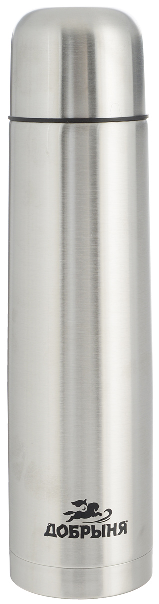 Термос Добрыня, 0,75 л. DO - 180223711Дорожный термос Добрыня выполнен из нержавеющей стали с матовой полировкой. Внутренняя колба выполнена из высококачественной нержавеющей стали. Термос имеет вакуумную прослойку между внутренней колбой и внешней стенкой. Специальная термоизоляционная прокладка удерживает тепло. Термос снабжен плотно прилегающей закручивающейся пластиковой пробкой с нажимным клапаном. Для того чтобы налить содержимое термоса нет необходимости откручивать пробку. Достаточно надавить на клапан, расположенный в центре. Легкий и удобный, термос Добрыня станет незаменимым спутником в ваших поездках.Размер термоса (с учетом крышки): 7,5 х 7,5 х 28,5 см.Диаметр крышки (по верхнему краю): 7 см.