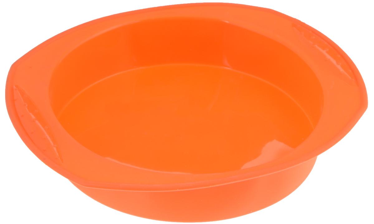 Форма для выпечки Mayer & Boch, силиконовая, цвет: оранжевый, диаметр 22 смFS-91909Форма для выпечки Mayer & Boch позволит приготовить вкусный кекс, торг или пирог. Предназначена для выпечки и заморозки. Форма выполнена из высококачественного пищевого силикона. Силиконовые формы для выпечки имеют много преимуществ по сравнению с традиционными металлическими формами и противнями. Силикон абсолютно безвреден для здоровья, не впитывает запахи, не оставляет пятен, легко моется. Благодаря гибкости и антипригарным свойствам силикона, готовое изделие легко извлекается из формы. Для этого достаточно отогнуть края и вывернуть форму (выпечке дайте немного остыть, а замороженный продукт лучше вынимать сразу). За счет высокой теплопроводности силикона изделия выпекаются заметно быстрее. По краям формы есть удобные ручки, что облегчает работу. С такой формой вы всегда сможете порадовать своих близких оригинальной выпечкой. Форма подходит для использования в микроволновых, газовых и электрических печах при температурах до +230°С. В случае заморозки до -40°С. Внутренний диаметр формы: 22 см. Размер формы (с учетом ручек): 29 х 25,5 см. Высота стенки: 5 см.