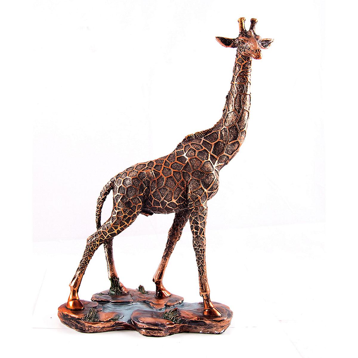 Статуэтка Русские Подарки Жираф, 25 х 37 см41619Статуэтка Русские Подарки Жираф, изготовленная изполистоуна, имеет изысканный внешний вид. Изделие станет прекрасным украшением интерьерагостиной, офиса или дома. Вы можете поставить статуэтку влюбое место, где она будет удачно смотреться и радоватьглаз. Правила ухода: регулярно вытирать пыль сухой, мягкой тканью.