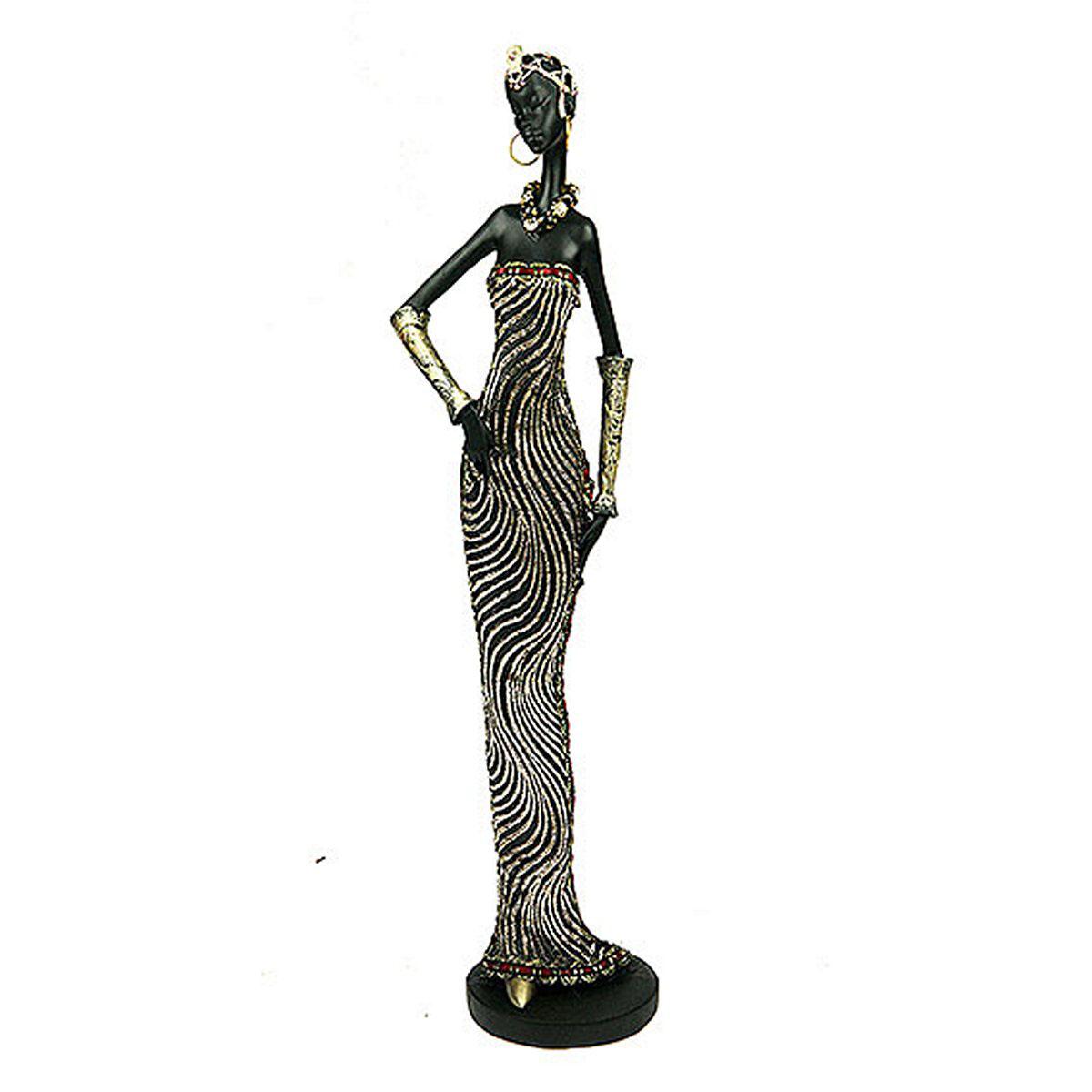 Статуэтка Русские Подарки Африканка, 7 х 8 х 32 смTHN132NСтатуэтка Русские Подарки Африканка, изготовленная из полистоуна, имеет изысканный внешний вид. Изделие станет прекрасным украшением интерьера гостиной, офиса или дома. Вы можете поставить статуэтку в любое место, где она будет удачно смотреться и радовать глаз. Правила ухода: регулярно вытирать пыль сухой, мягкой тканью.