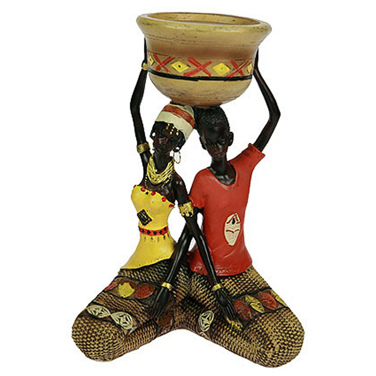 Статуэтка Русские Подарки Африканка, 16 х 12 х 23 см. 26137119894Статуэтка Русские Подарки Африканка, изготовленная из полистоуна, имеет изысканный внешний вид. Изделие станет прекрасным украшением интерьера гостиной, офиса или дома. Вы можете поставить статуэтку в любое место, где она будет удачно смотреться и радовать глаз. Правила ухода: регулярно вытирать пыль сухой, мягкой тканью.