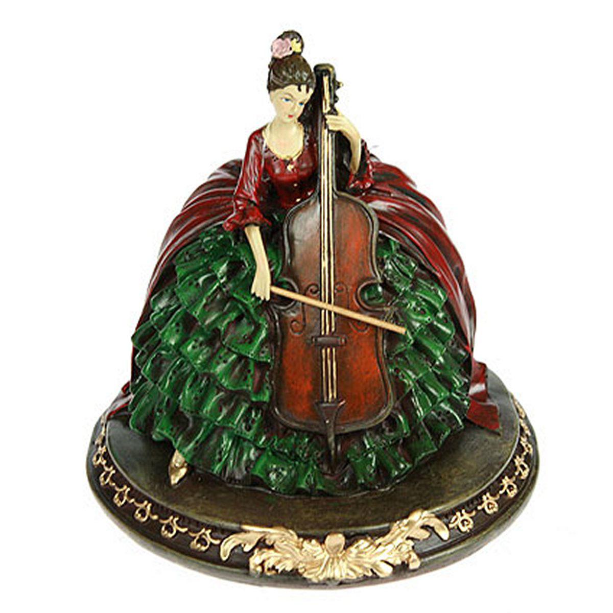 Статуэтка Русские Подарки Дама с виолончелью, 18 х 18 х 18 смTHN132NСтатуэтка Русские Подарки Дама с виолончелью, изготовленная изполистоуна, имеет изысканный внешний вид. Изделие станет прекрасным украшением интерьерагостиной, офиса или дома. Вы можете поставить статуэтку влюбое место, где она будет удачно смотреться и радоватьглаз. Правила ухода: регулярно вытирать пыль сухой, мягкой тканью.