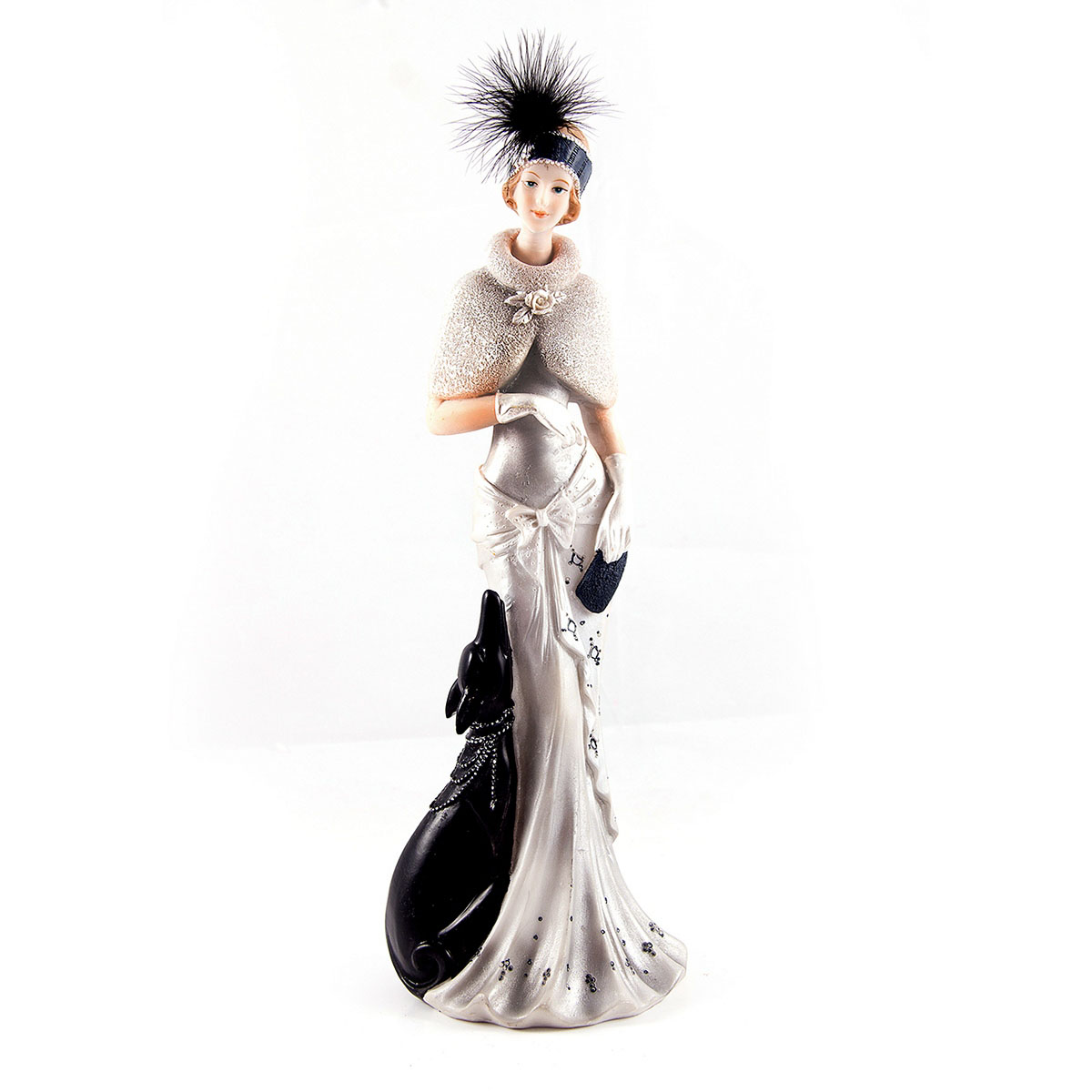 Статуэтка Русские Подарки Мисс Рандеву, 11 х 10 х 31 см74-0120Статуэтка Русские Подарки Мисс Рандеву, изготовленная изполистоуна, имеет изысканный внешний вид. Изделие станет прекрасным украшением интерьерагостиной, офиса или дома. Вы можете поставить статуэтку влюбое место, где она будет удачно смотреться и радоватьглаз. Правила ухода: регулярно вытирать пыль сухой, мягкой тканью.