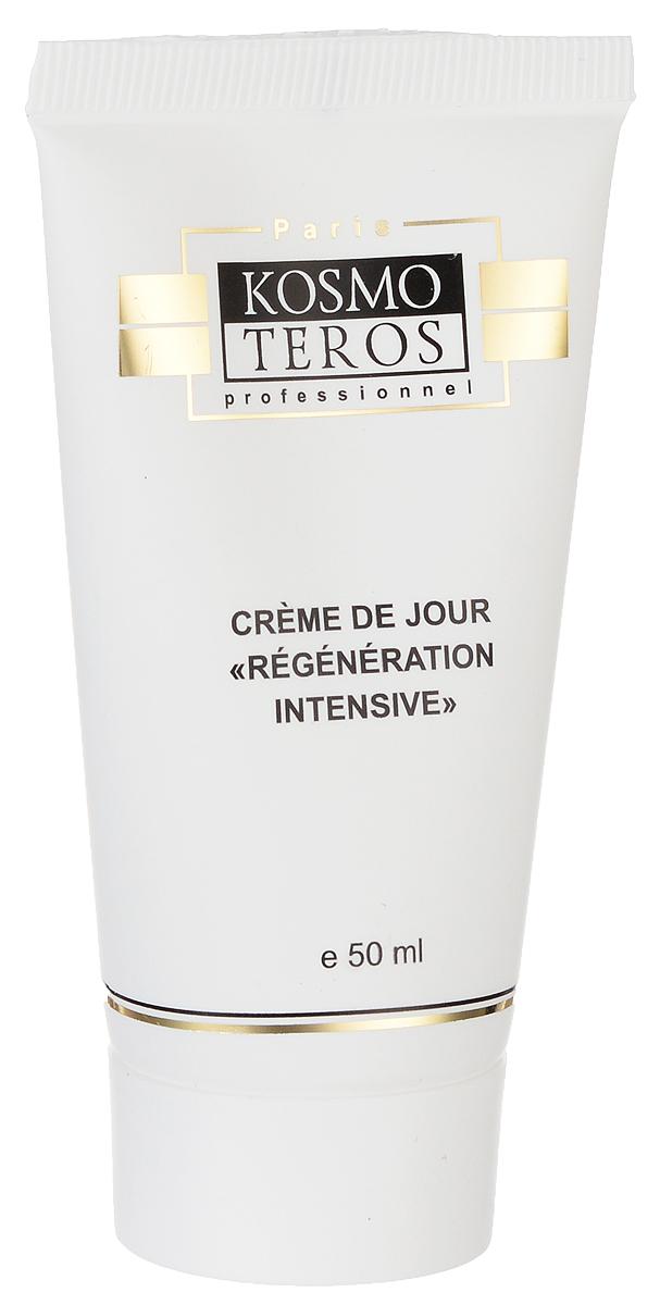 Kosmoteros Дневной регенерирующий крем Creme Regenerante de Jour - 50 мл5002Эффективно омолаживающий крем активно стимулирует процессы клеточной регенерации и восстановления структуры кожи, препятствуя преждевременным возрастным изменениям. Глубоко увлажняет кожу и поддерживает её гидролипидный баланс.Крем эффективно защищает кожу в течение всего дня, активно противодействуя факторам преждевременного старения (УФ-излучение, свободные радикалы, загрязнения окружающей среды).Основные активные компоненты: Hyasealon 1, 2%, Matrixyl2, 5%, Matrixil®3000, масло ши, витамин Е. Показания к применению: для любого типа кожи с возрастными изменениями.