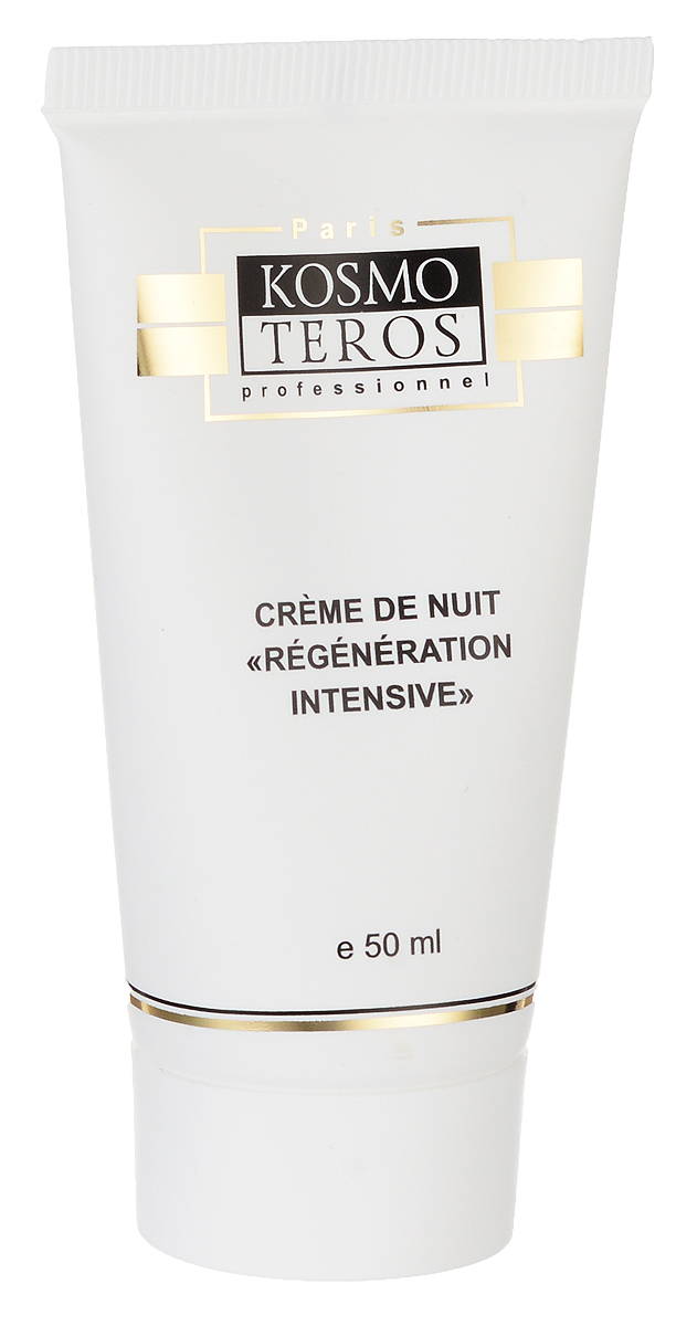 Kosmoteros Интенсивный восстанавливающий ночной крем Creme Intensive Nuit Regenerante - 50 мл110632942_розаАктивный питательный крем усиливает естественные функции кожи, стабилизирует систему защиты клеток и замедляет воздействие разрушительных факторов, стимулирует процессы биосинтеза и клеточной регенерации, укрепляет барьерные функции кожи, восстанавливает гидробаланс.При регулярном применении повышается тонус кожи, ее упругость и эластичность, сокращается количество морщин.Основные компоненты: Matrixil 3%, Hyasealon 0, 7%, масла: орехов макадамии, ши, какао, виноградной косточки, авокадо, жожоба, экстракт облепихи.Показания к применению: для любого типа кожи с возрастными изменениями.