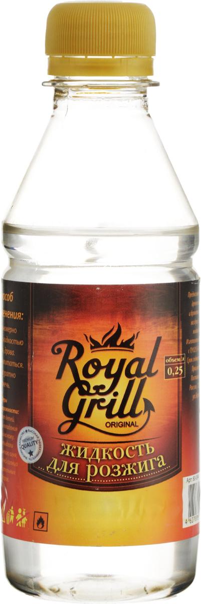 Жидкость для розжига RoyalGrill, 0,25 л54 009312Жидкость RoyalGrill предназначена для розжига древесного угля, дров, брикетов и другого твердого топлива. Затопить камин, разжечь костер и мангал - эта жидкость справиться очень легко. Способ применения: 1. Равномерно полить жидкостью уголь, дрова.2. Дать впитаться.3. Аккуратно разжечь.Меры предосторожности:Беречь от детей. Избегать попадания в глаза и на кожу. Хранить вдали от открытого огня, прямых лучей солнца и нагревательных приборов.Состав: смесь жидких парафинов.
