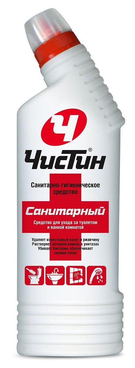 Санитарно-гигиеническое средство Чистин Утенок, 750 млK100Средство предназначено для ухода за туалетом и ванной комнатой. Средство удаляет известковый налёт, ржавчину с фаянсовых санизделий, кафеля, душевых кабин, душа, кранов. Идеально растворяет мочевой камень в унитазах. Убивает бактерии, обеспечивает свежий запах. Состав: > 5 %, но Товар сертифицирован.