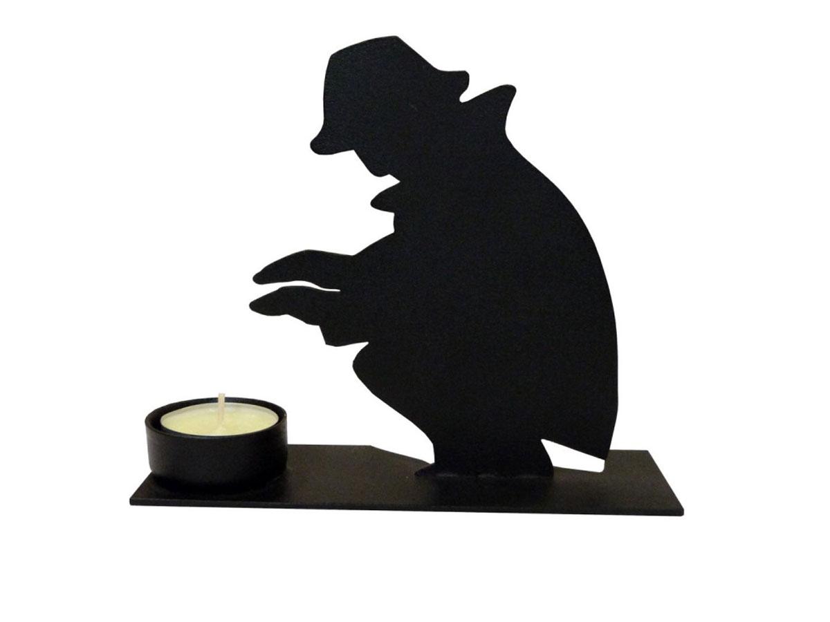 Подсвечник Gala, цвет: черный, 18 х 6 х 14,8 см895250Подсвечник Gala, выполненный из металла с полимерным покрытием, станет отличным украшением интерьера. Он предназначен для свечи диаметром 4,5 см. Установите и зажгите свечу, и вы сразу почувствуете уют и спокойствие, исходящие от маленького огонька свечи в красивом оформлении.