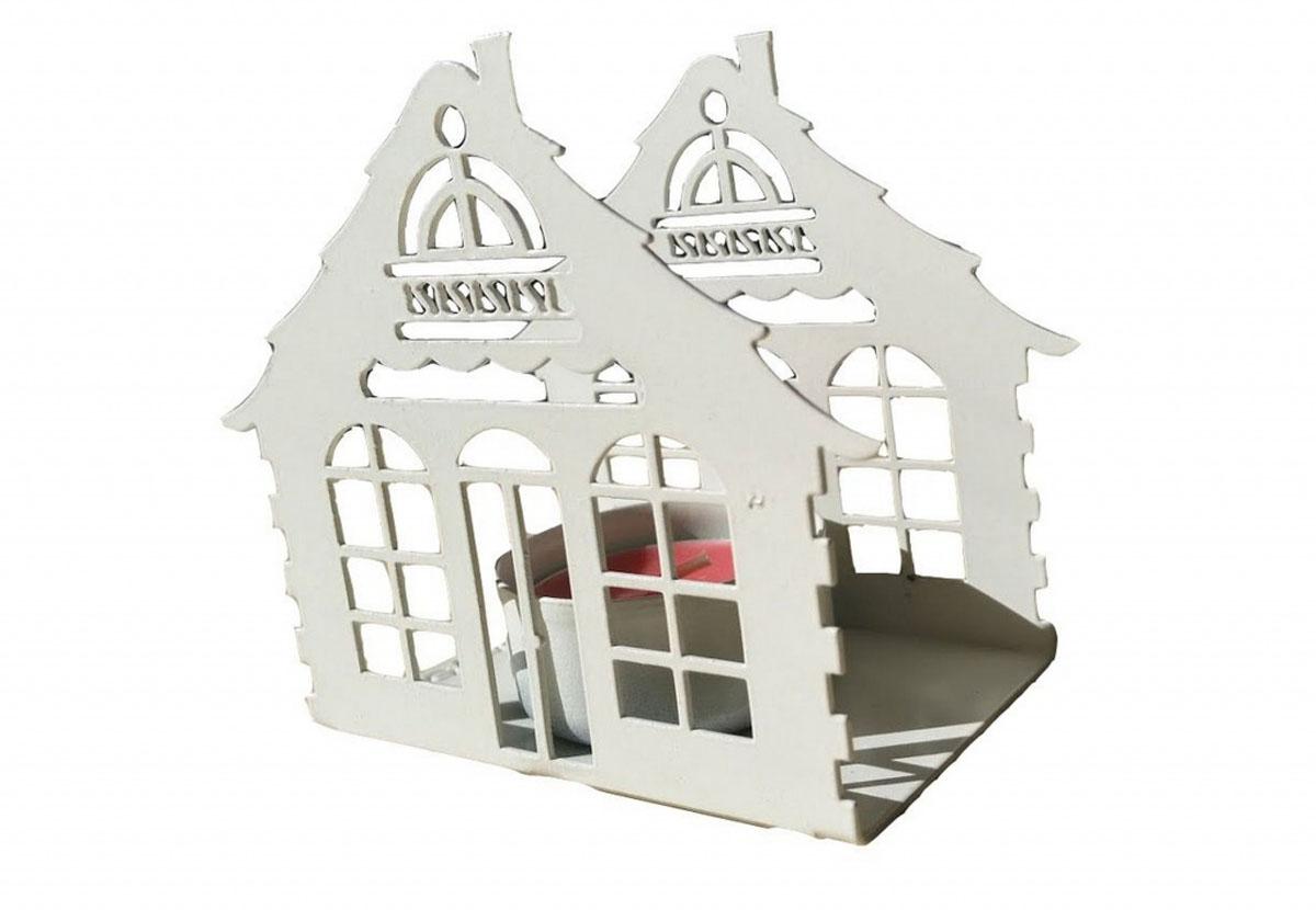 Подсвечник Gala, цвет: белый, 9,2 х 10,9 х 5,7 см25051 7_зеленыйПодсвечник в форме домика станет прекрасным украшением вашего дома. Предназначен для свечи диаметром 4,5 см.