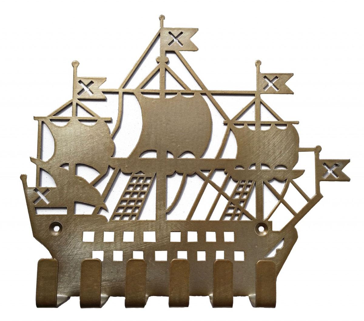Ключница Gala, цвет: золотой, 20,5 х 18,3 смRG-D31SОригинальная ключница в виде фрегата станет прекрасным украшением вашего дома.