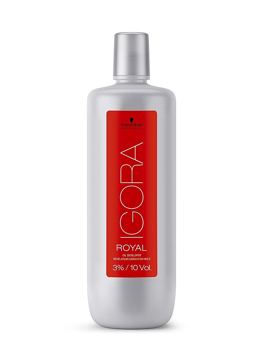 Igora Royal Лосьон-окислитель 3% 1000 млSatin Hair 7 BR730MNЛосьон-окислитель для применения со всем ассортиментом Igora Royal и осветляющим порошком Igora Vario Blond Plus. 3%