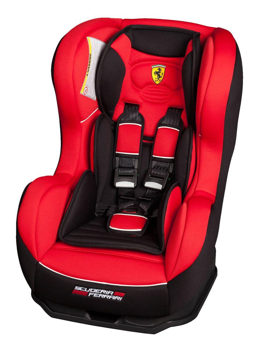 Nania Автокресло Cosmo SP Ferrari Corsa до 18 кг083756Автокресло Nania Cosmo SP относится к группе 0-1, от рождения до 4-х лет (0-18 кг). Соответствует стандартам ECE R44/04. Автокресло Nania Cosmo SP имеет специальный мягкий вкладыш и подголовник. Дополнительная усиленная боковая защита, 3 положения спинки, 5-ти точечный ремень безопасности с удобной системой натяжения. Новая система крепления автокресла облегчает его установку в автомобиль. Надежное крепление к автомобильному сиденью по ходу движения автомобиля (ремень автомобиля проходит между основой и корпусом автокресла). Устанавливается в автомобилях с 3-х точечными ремнями безопасности на переднем или заднем сиденье. Автокресло Nania Cosmo SP было разработано на основе требований безопасности, а также ортопедических факторов: мягкие обивка и подушки, а также анатомическая форма обеспечивает комфорт даже в дальних поездках. Система боковой защиты Side Protection (SP) обеспечивает необходимую безопасность даже при боковом столкновении. 5-ти точечные ремни безопасности можно регулировать не только по длине и высоте, но и снять совсем, когда ребенок подрастет.Серия FERRARI - фирменные цвета итальянского спорткара в сочетании с автокреслом серии LUXE. Автокресло гарантирует европейское качество и обеспечивает безопасность пассажира. Кроме того, предлагается дополнительный комфорт за счет подушек в районе головы и таза, которые при необходимости можно убрать.